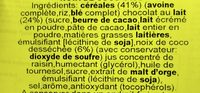 Müsliriegel, Coconut With Milk Chocolate - Ingrediënten