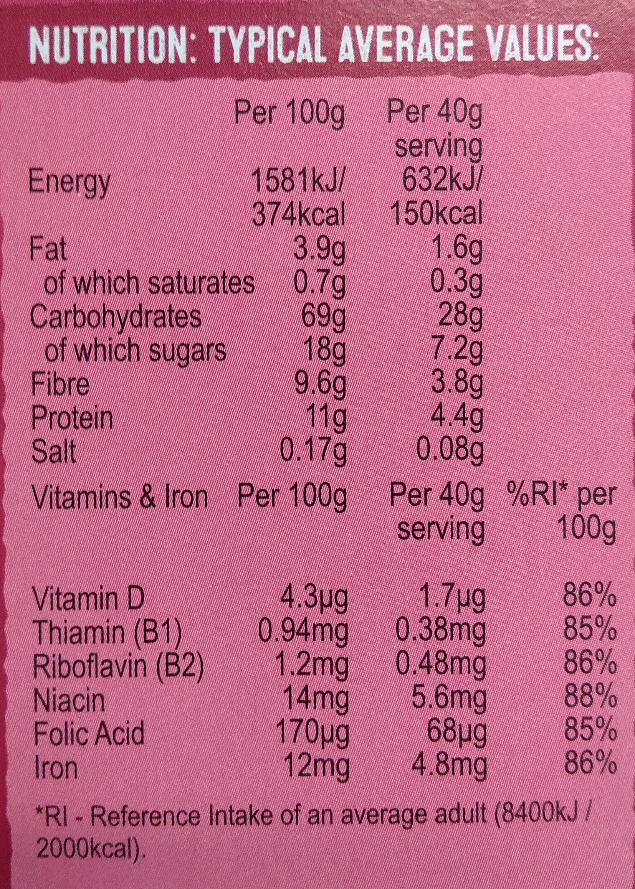 Crispy Minis Fruit & Nut - Informations nutritionnelles - en
