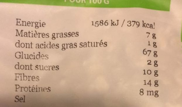 Weetabix Avena Suave Oatibix - Informations nutritionnelles - fr