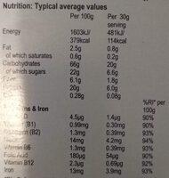 Weetabix Protein Crunch Original - Información nutricional