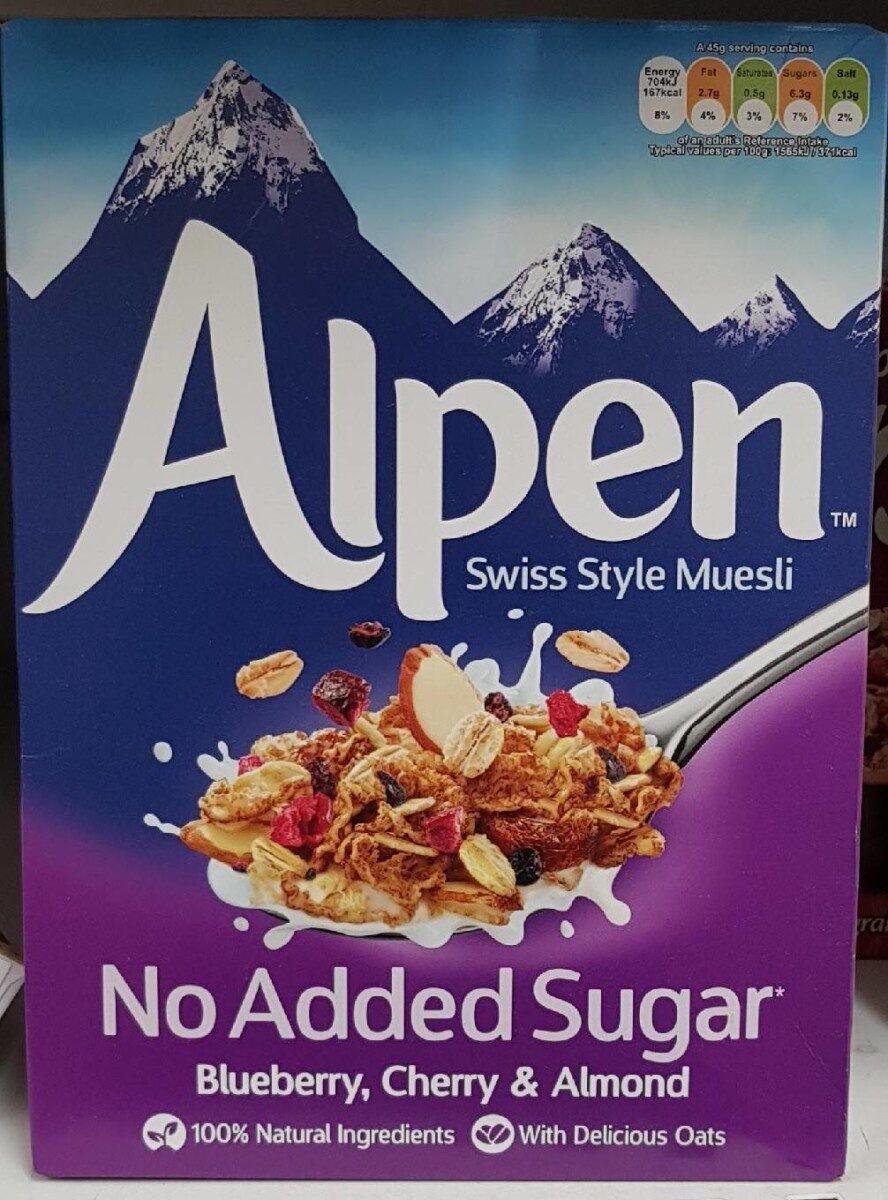 Muesli con arándanos, cerezas y almendras sin azúcares añadidos - Product - es