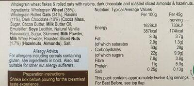 Chocolate Swiss Style Muesli - Voedingswaarden - en