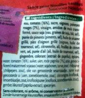 Sauce pour nouilles sautées aigre-douce, piment doux - Ingrediënten - fr