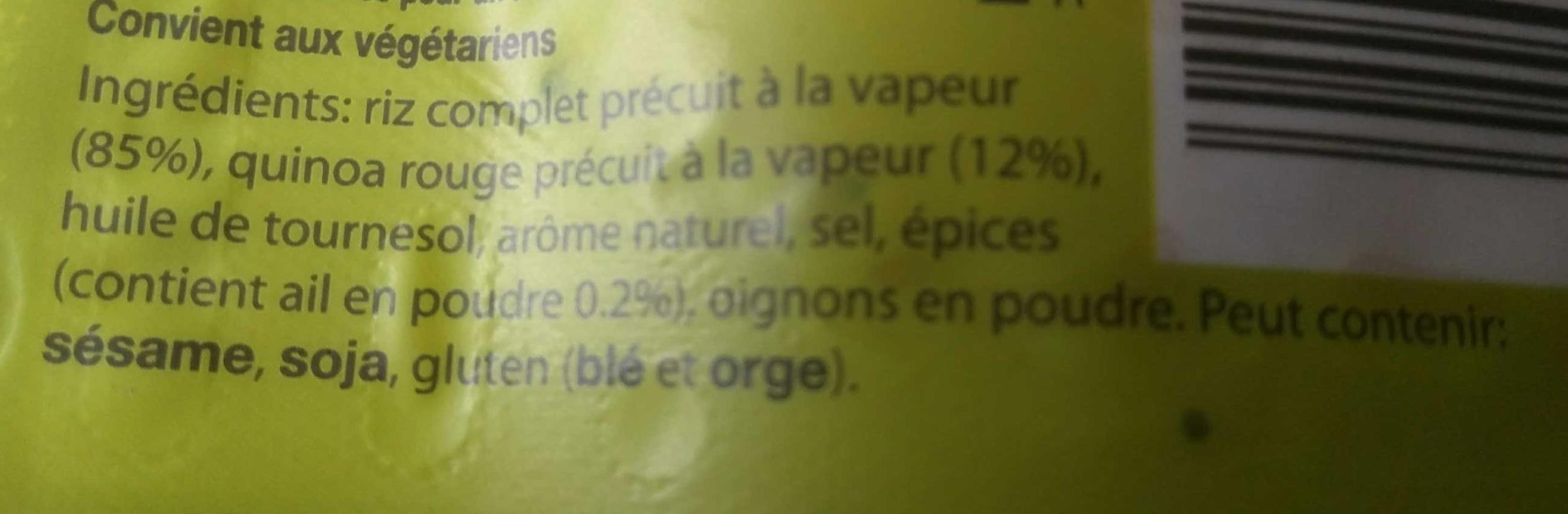 Riz et Quinoa - Ingredients