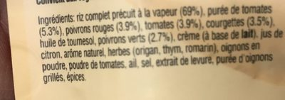 Riz complet à la méditerranéenne, 250g - Ingredients