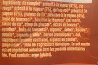 Duo de Riz, Quinoa & Graines de Lin - Ingrédients
