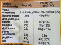 Riz & Lentilles au Curry - Informations nutritionnelles - fr