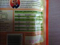 Pilau rice (uncle bens) - Informations nutritionnelles - fr