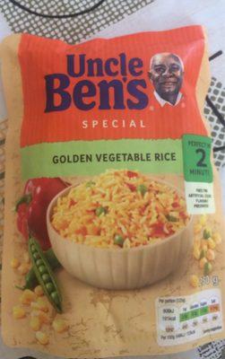 Uncle Ben's Special Golden Vegetable Rice - Produit