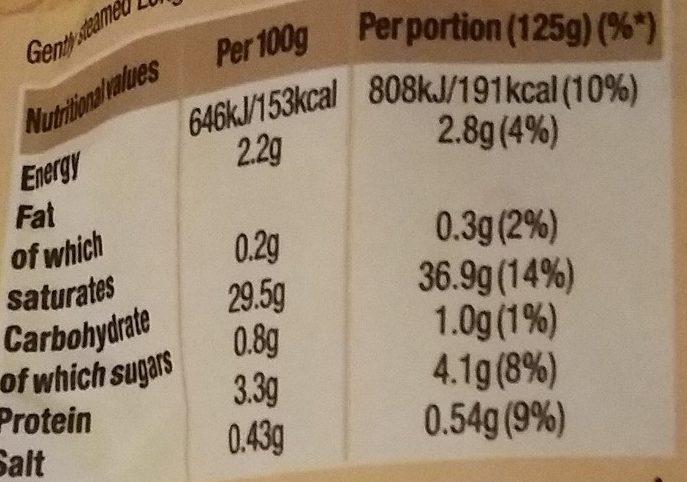 Uncle Ben's Special Golden Vegetable Rice - Nutrition facts - en