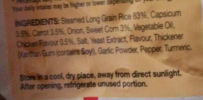 Uncle Bens Express Savoury Chicken Rice - Ingredients - en