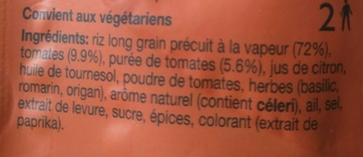 Special Tomato And Basil Rice - Ingredients - fr