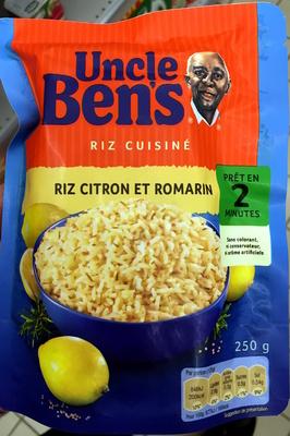 riz cuisiné riz citron et romarin - uncle ben's - 250 g