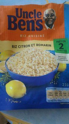 Riz cuisiné citron et romarin - Produit - fr