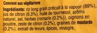 Riz cuisiné citron et romarin - Ingrédients - fr