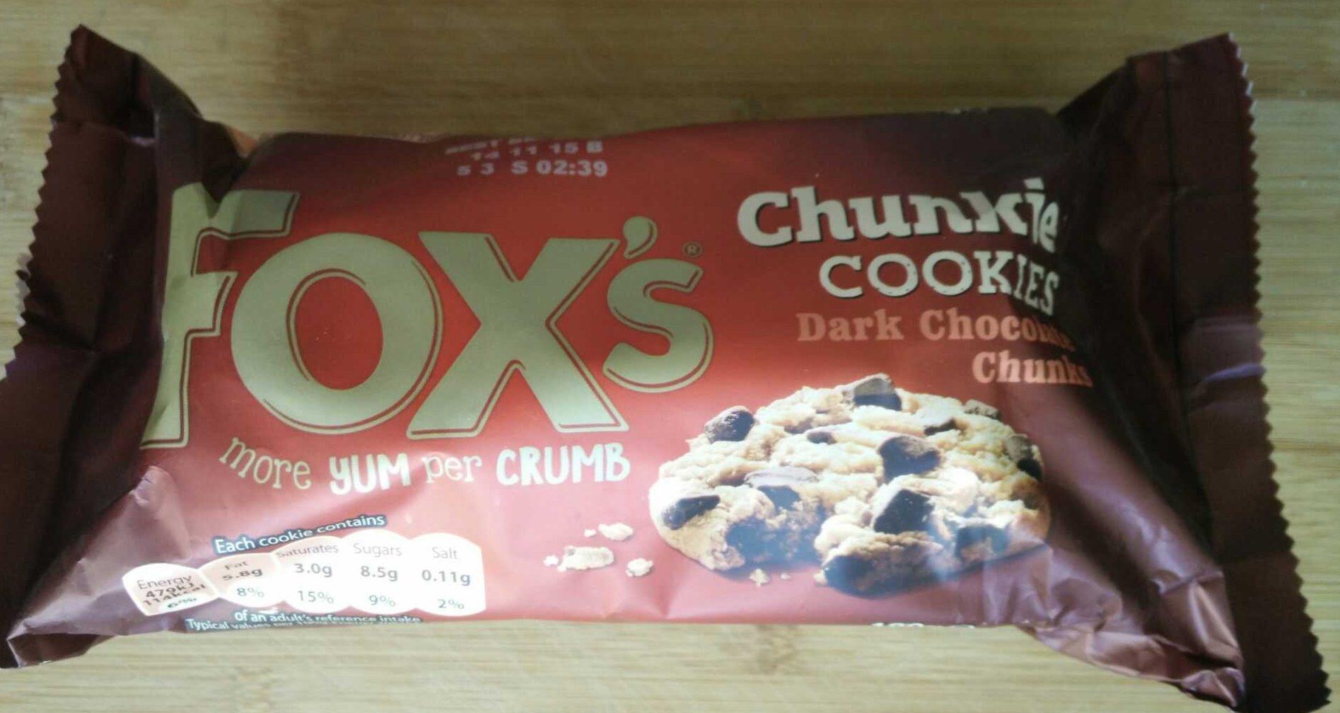 Fox's Dark Choco. Cookies Chunk - Produit - fr