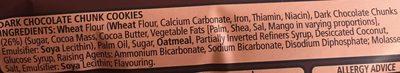 Fox's Dark Choco. Cookies Chunk - Ingredients
