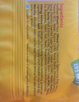 Soreen Fruity Malt Loaf - Ingrediënten