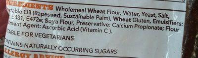 Wholemeal Medium Sliced - Ingredientes