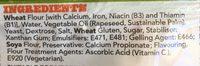 Warburtons Sandwich Thins - Ingredients