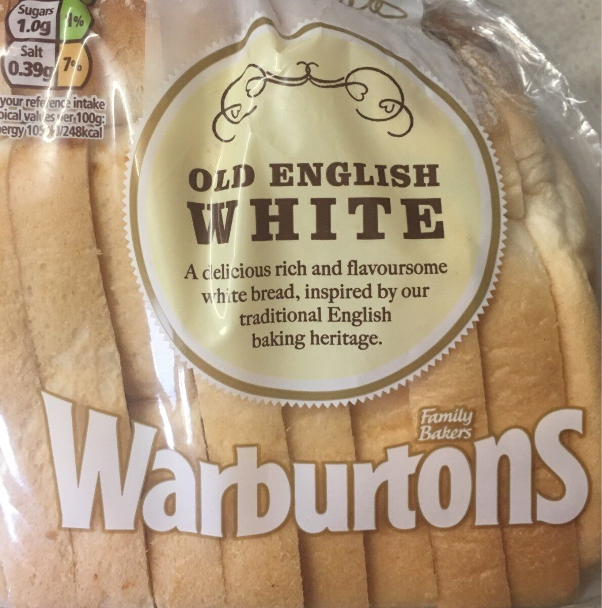 Warburtons Old English Medium Sliced White Bread 400G - Product - en