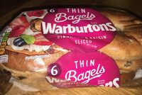 Warburtons Thin bagels Cinnamon and raisin - Product - en