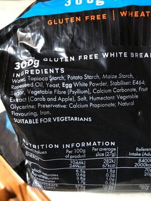 Warburtons Gluten Free - Ingredients - en