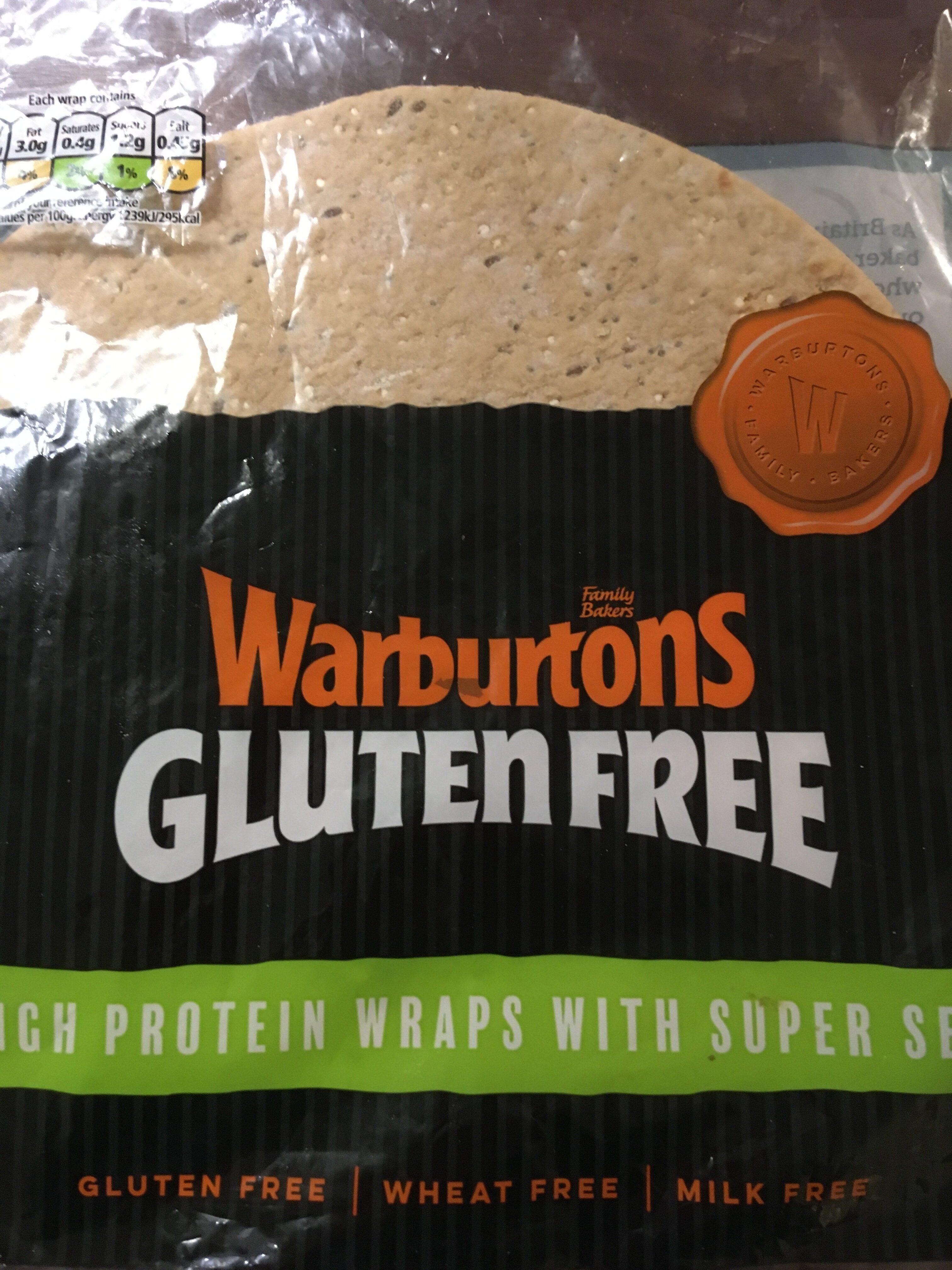 Warburtons Gluten Free Protein Super Seeds 4 Wraps - Product - en