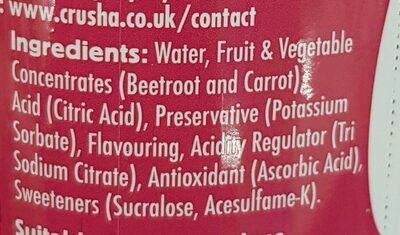 Crusha Raspberry - Ingredients - en