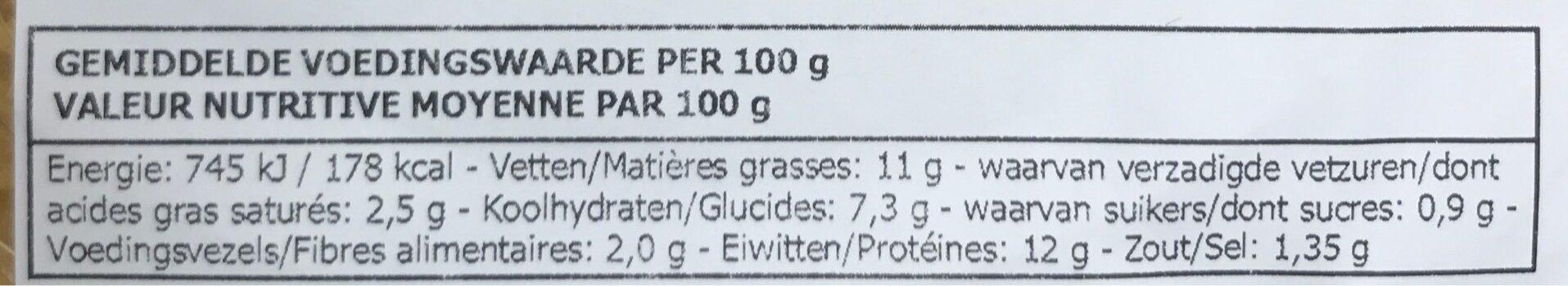Croq' Poulet Fromage-jambon-crème - Voedingswaarden