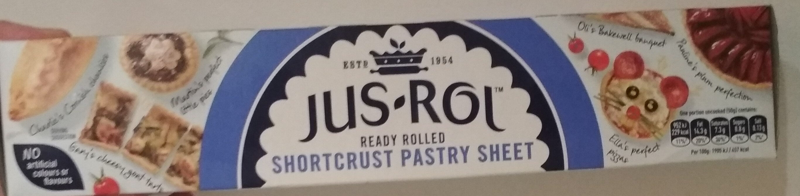 Jus Rol Shortcrust Pastry Ready Rolled - Producte - en