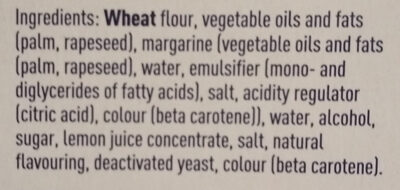 Shortcrust Pastry Sheet - Ingredients - en