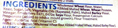 Tasty Wholemeal Bread - Kingsmill - 800G - Ingredients