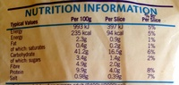 Kingsmill 50/50 - Nutrition facts