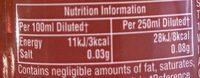 Fruit creations cordial - Informations nutritionnelles - en