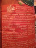 Fruit Creations Strawberry & Watermelon - Nutrition facts - en