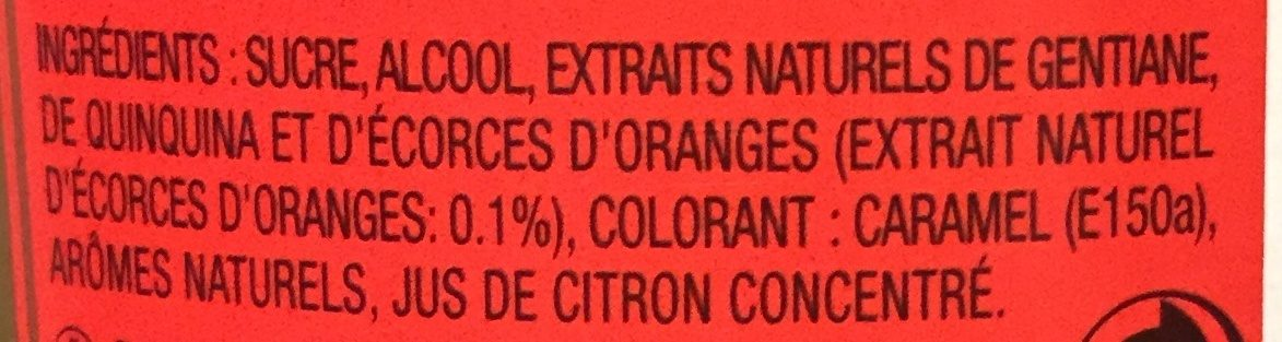 Picon Bière - Ingrédients