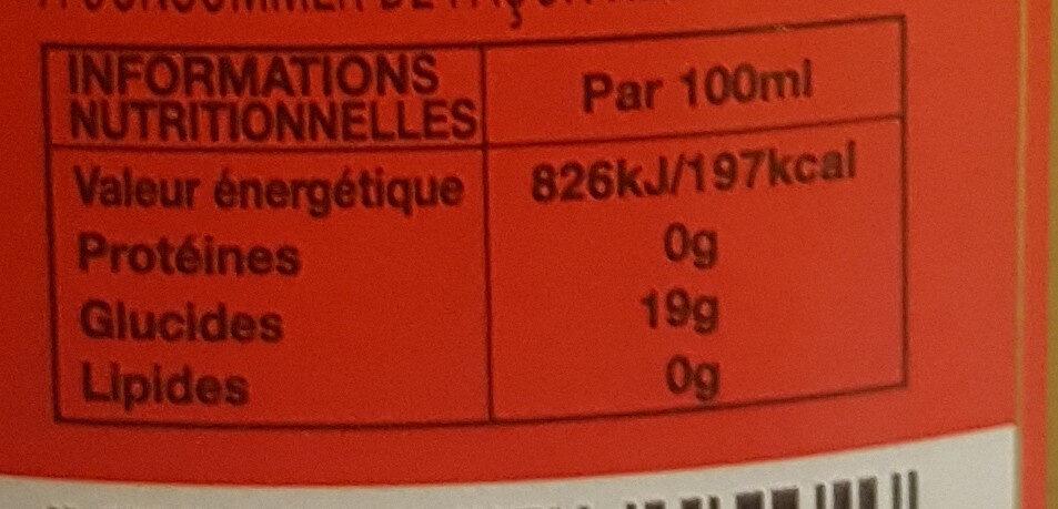 Picon Bière - Informations nutritionnelles - fr