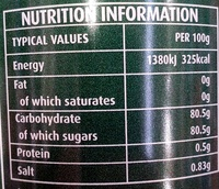 Lyle's Golden Syrup - Nutrition facts