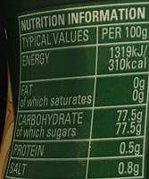 Dessert Golden Syrup - Información nutricional