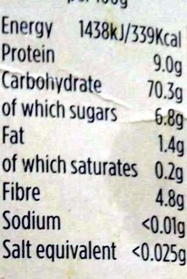 plain flour - Voedingswaarden - en