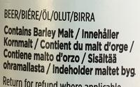 OMG! Old Miserable Git - Ingredients