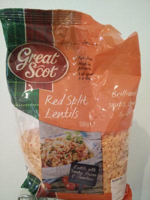 Red Split Lentils - Product