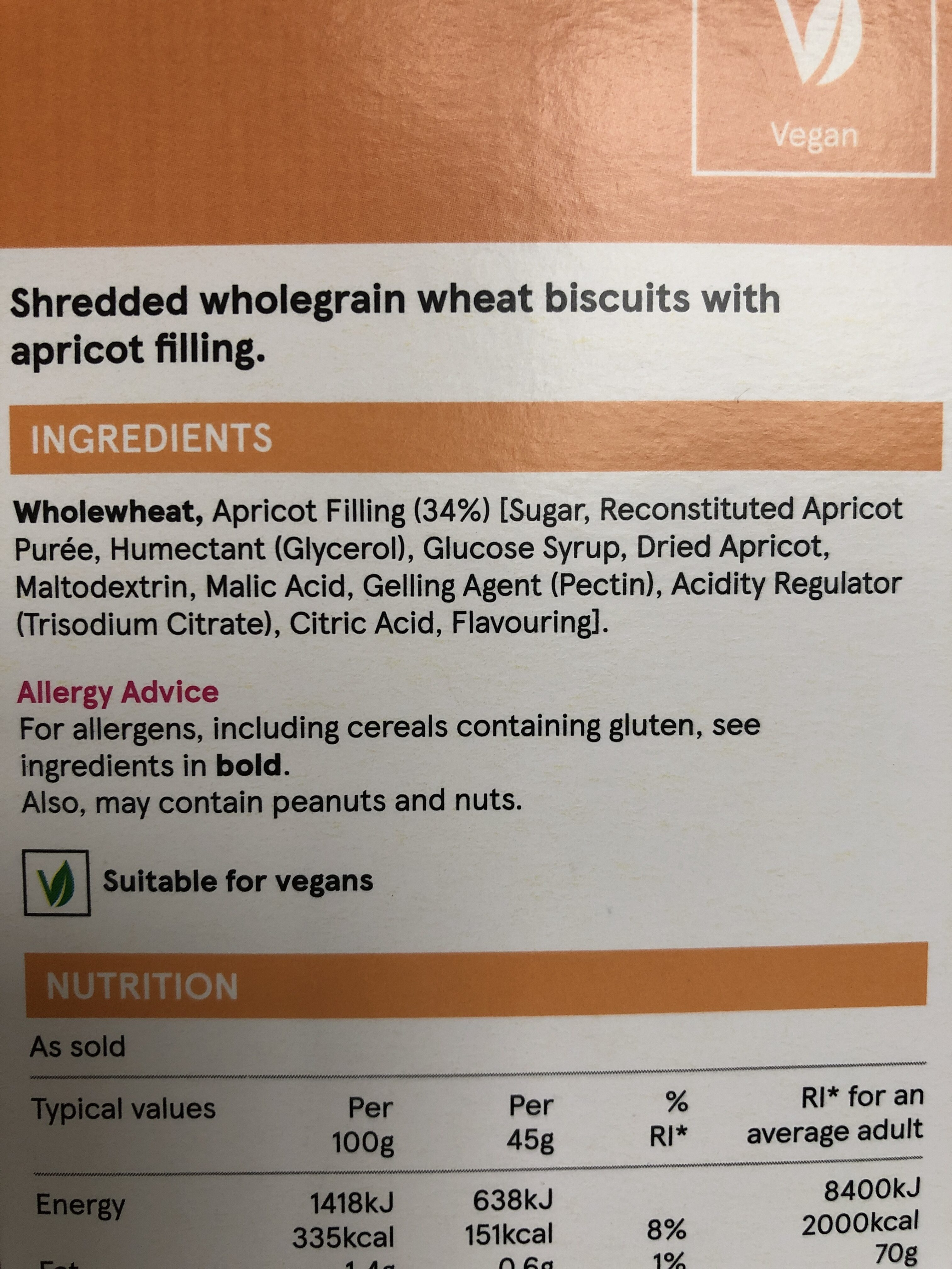 Apricot Wheats - Ingredients - en