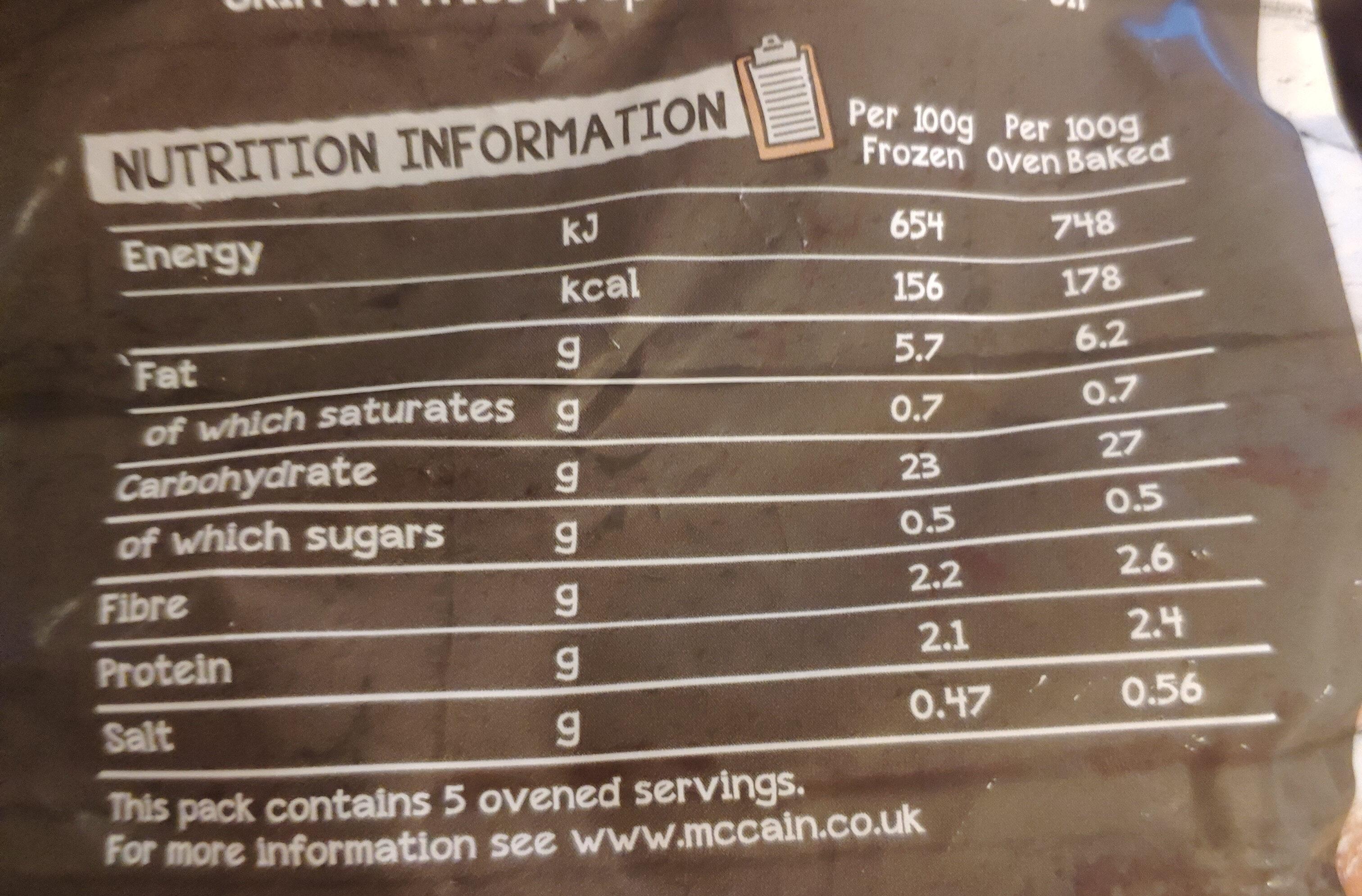 Skin On Fries - Nutrition facts - en