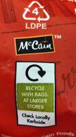 Waffle fries - Instruction de recyclage et/ou information d'emballage - en