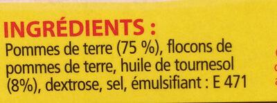 Fries to Go - Ingrediënten - fr