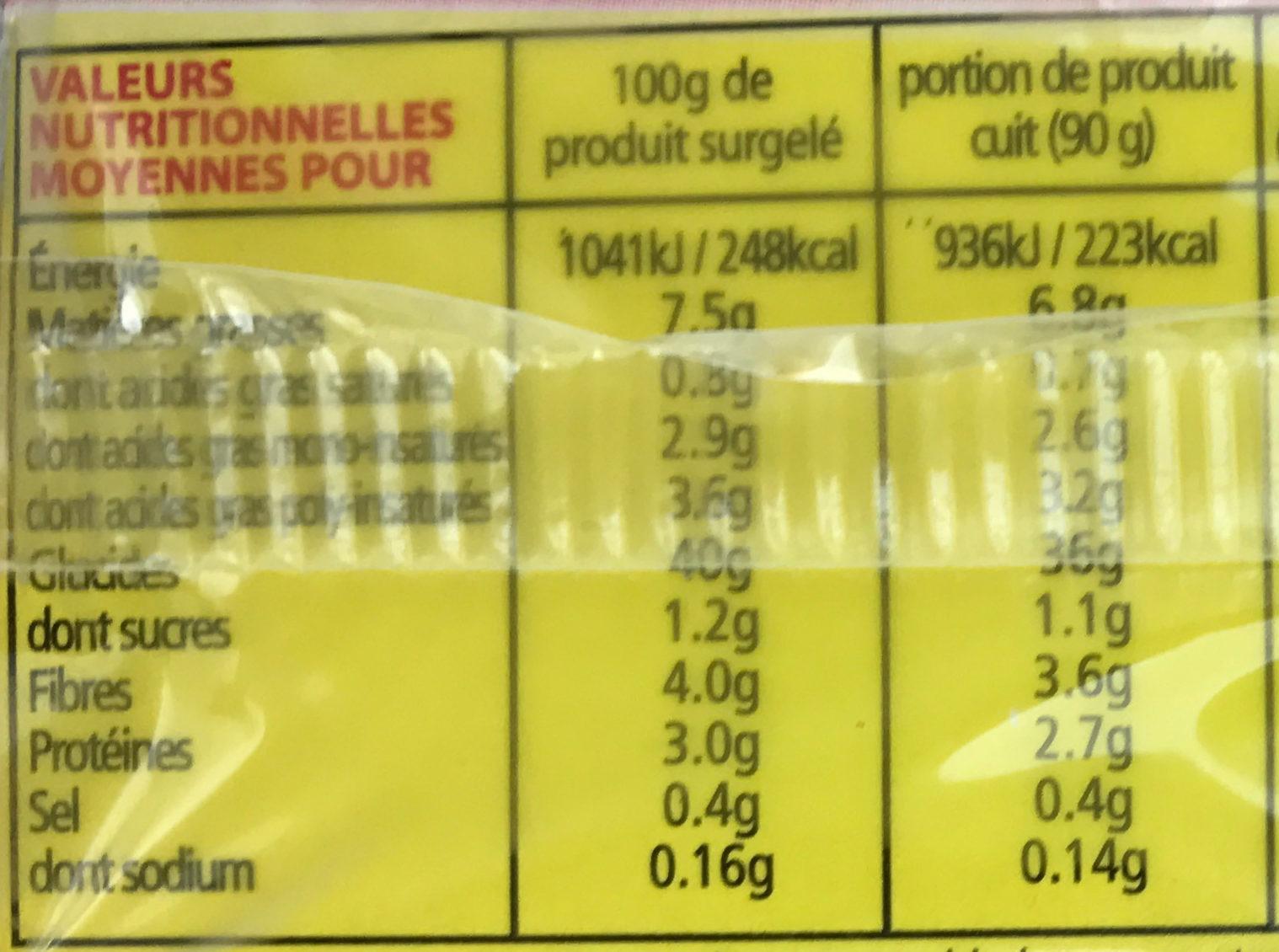Fries to Go - Voedingswaarden - fr
