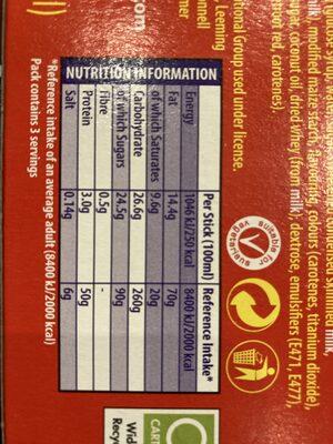 Creme Egg Ice Cream - Informations nutritionnelles - en