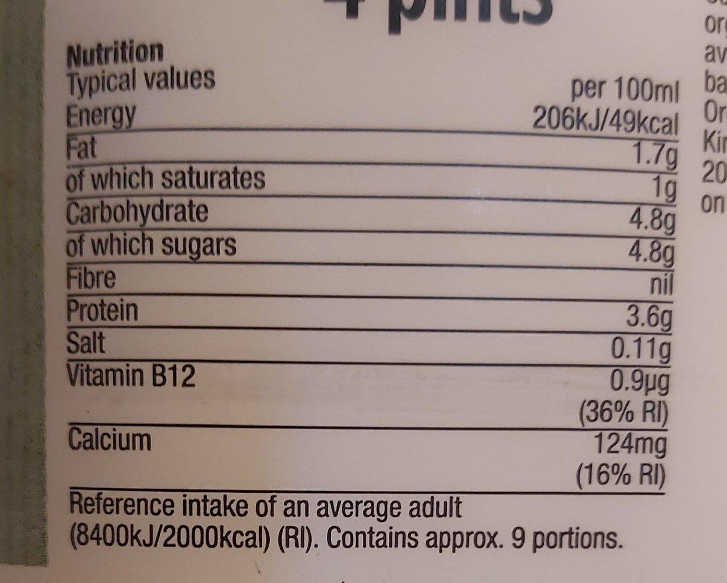 Morrisons semi skimmed milk - Nutrition facts - en